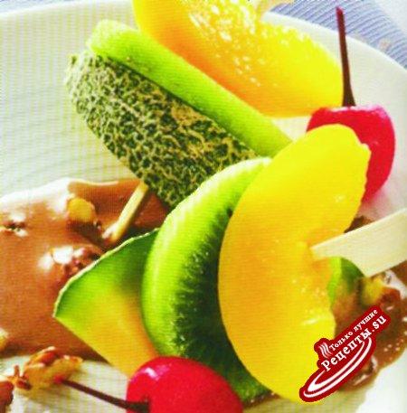 Шашлычки из экзотических фруктов