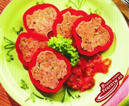 Перец паприка, фаршированный мясом