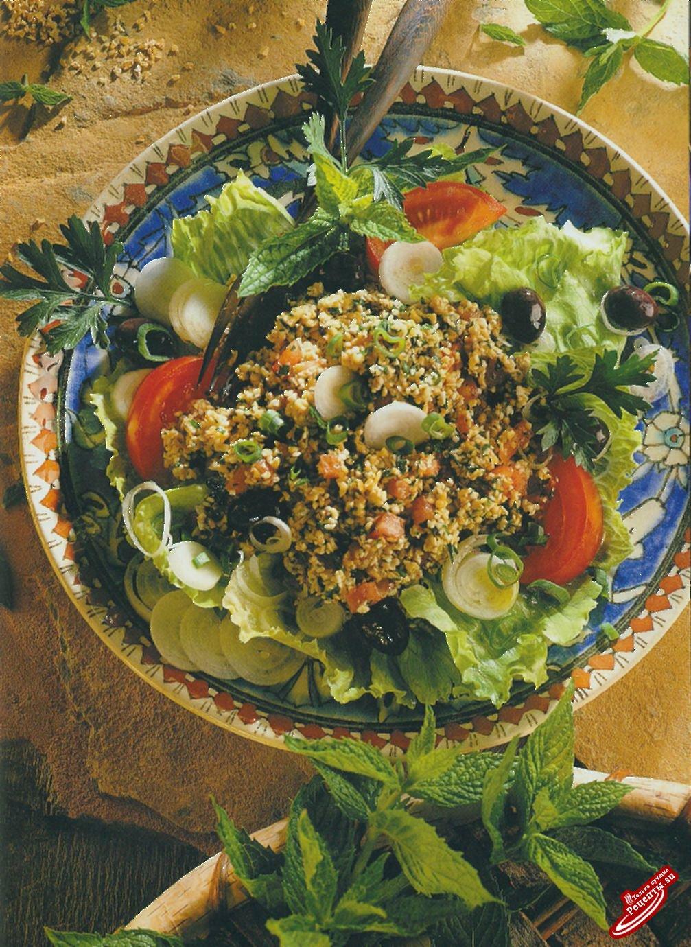 Салат с пшеничной мукой грубого помола