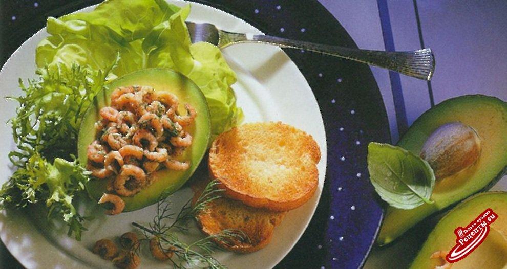 Авокадо с североморскими крабами