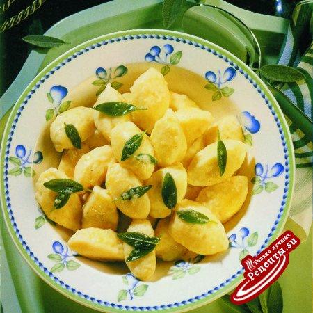 Картофельные галушки с шалфеем