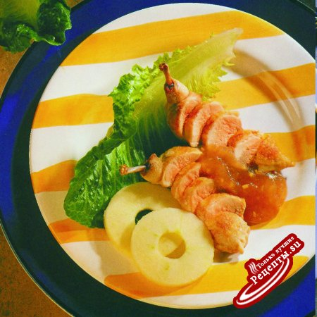 Филе перепела с яблочно-сливовым соусом
