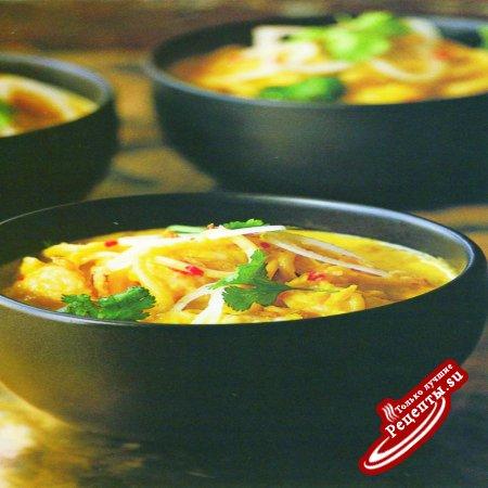 Бирма. Рыбный суп с лапшой