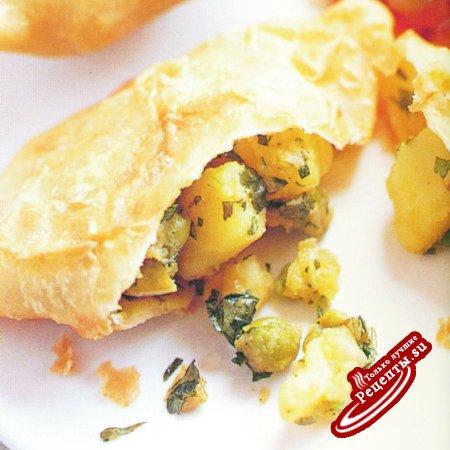 Индия самосы с горошком и картофелем