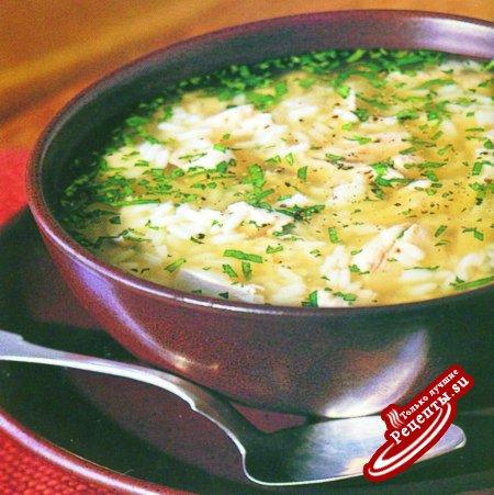 Португалия. Куриный суп с рисом