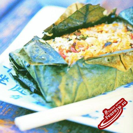 Китай. Клейкий рис в листьях лотоса