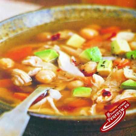 Мексика. Нутовый суп с курицей