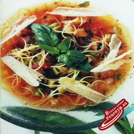 Суп с соусом песто