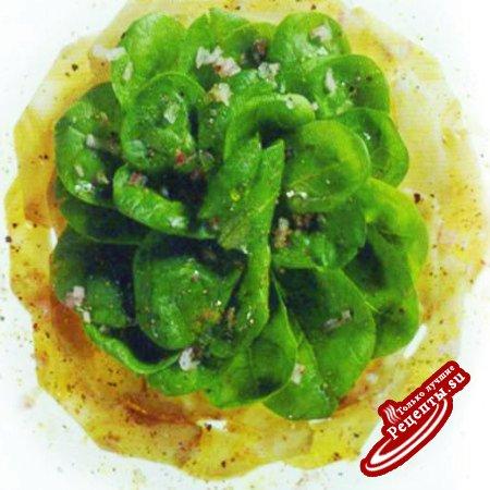 Салат из артишоков и шпината