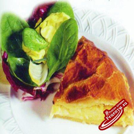Пирог с сыром канталь