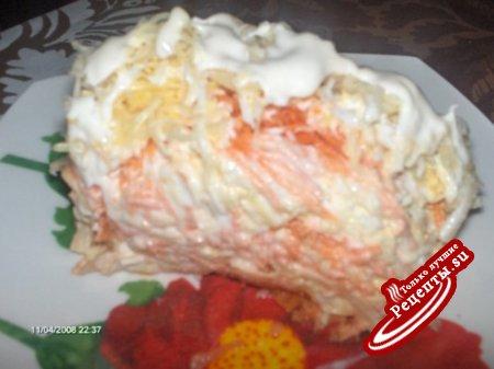 Необычный сырный салат