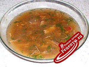 Фасолевый суп с кизилом