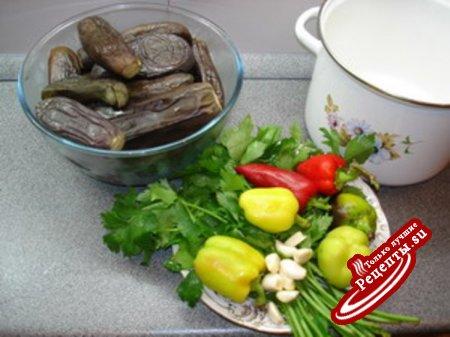 соленые баклажаны (квашеные)