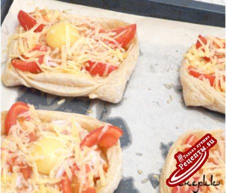 Бекон сыр в слоеном тесте рецепт