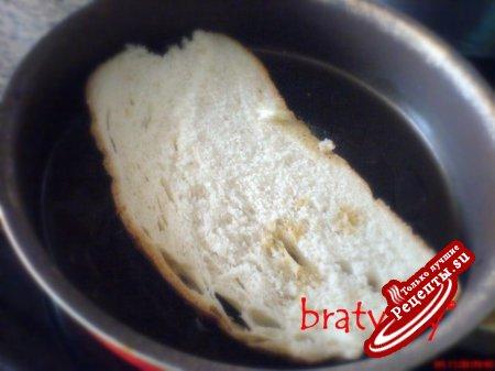 Хлеб с яйцом, когда торопишься