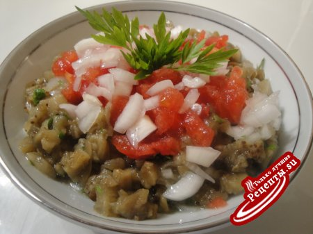 Салат из баклажан к шашлыку/рецепт выходного дня/