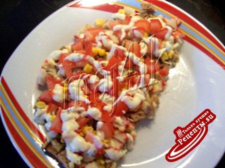 Быстрая запеканка-салат