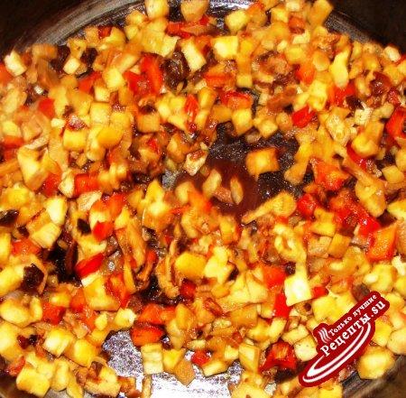 картофель фаршированый по летнему