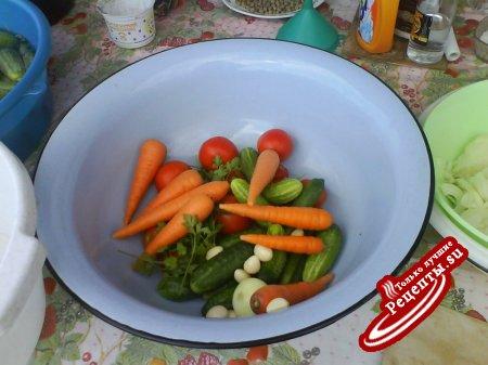 """""""Овощной калейдоскоп"""" в желе..."""