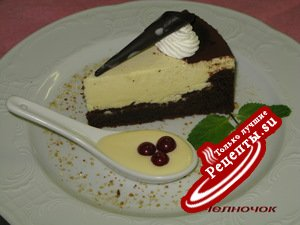 Торт из белого шоколада с персиками фото 1