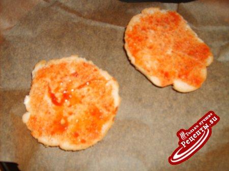 """Горячие """"пицца-бутерброды"""""""