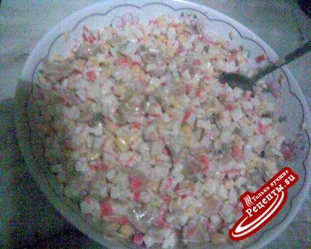 Салат с крабовыми палочками постный рецепт с
