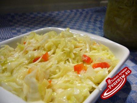 Капустный салат по-немецки (Krautsalat) - маринованная капуста быстрого приготовления