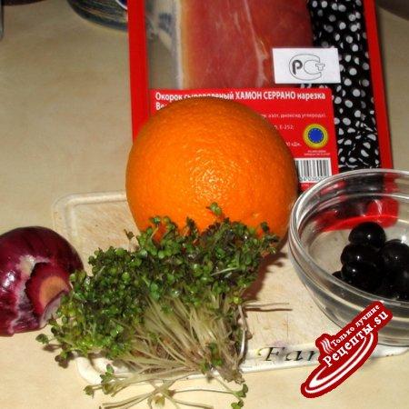 Кастильский салат из апельсинов с хамоном