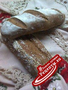 БАГЕТ «НЕДЕЛЬКА» на закваске рецепт один, а хлеб каждый день разный!