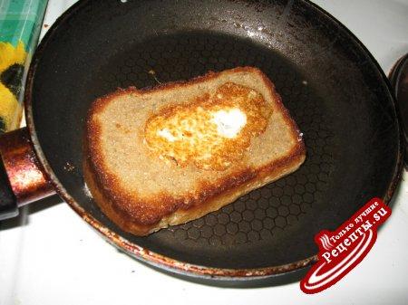 Яйцо в хлебе(вариант)