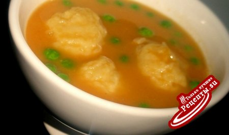 Суп пюре из тыквы и чечевицы с картофельными клёцками