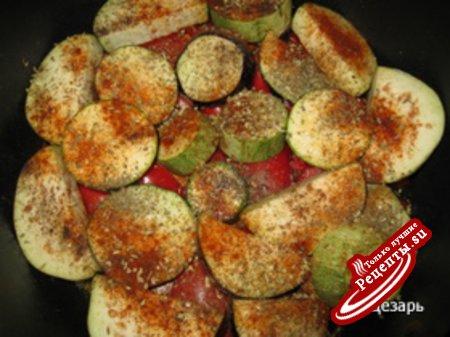 Телятина с овощами