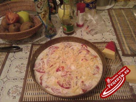 Пангасиус с помидорами