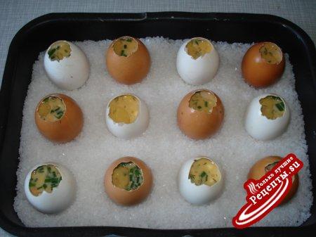 Рецепт запеченных яиц в скорлупе