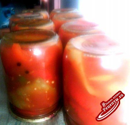 Перец в масляно-томатной заливке