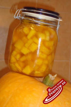 Маринованная тыква с горчиченками