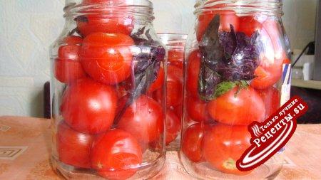 томаты с базеликом