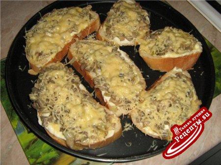 Вариация на тему горячих бутербродов. Теперь с маслом и грибами