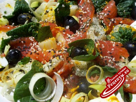 """Салат с лососем """"PACIFIC""""-тихоокеанский"""