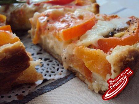 Томатный пирог с брынзой
