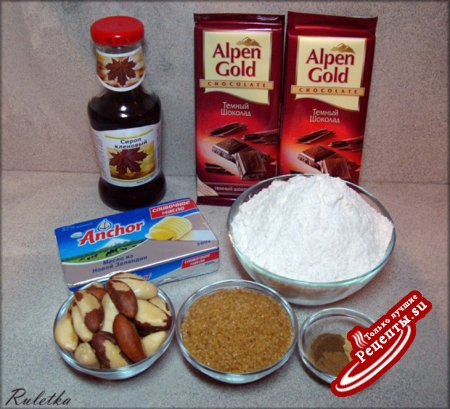 Пряное печенье с бразильским орехом и оздоровительным финиковым чаем.