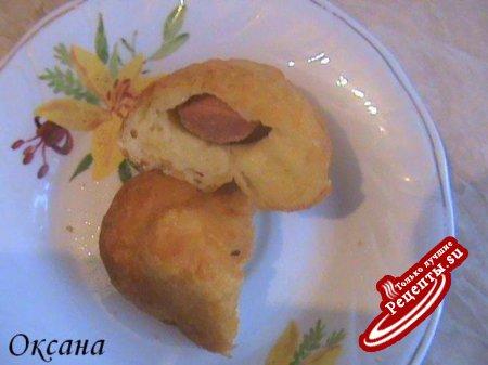 Пирожки картофельные с сосиской