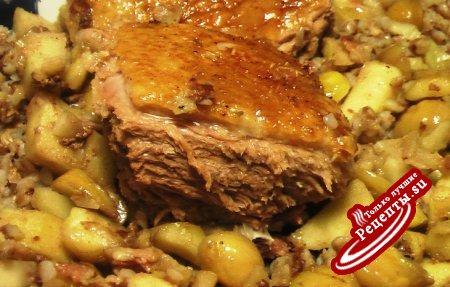 Мясо с каштанами рецепт с фото
