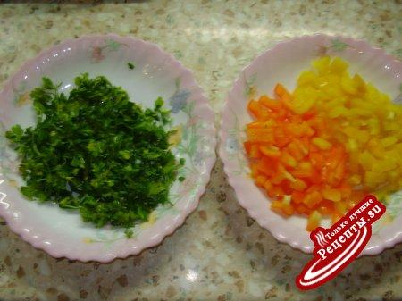 Печёнка с овощами по-домашнему