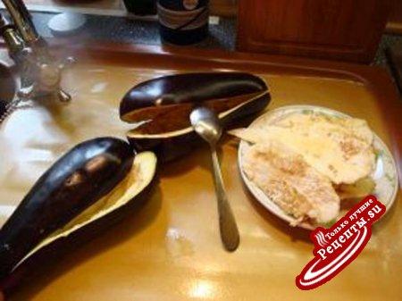 Баклажаны, фаршированные сыром
