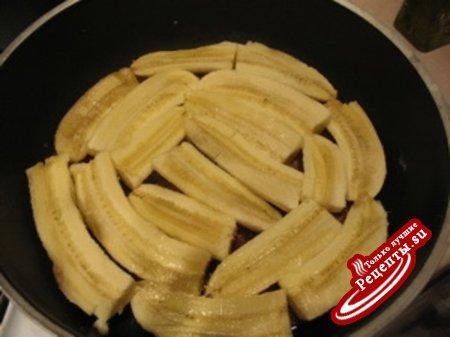 Карамельно-банановый пирог