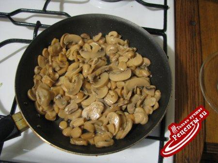 жульен с креветками и грибами