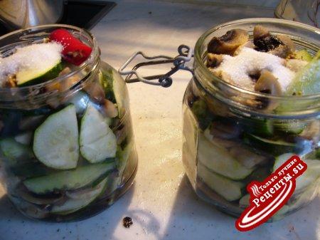 Овощная салатная смесь, малосольная