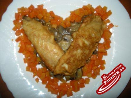 Рыбка жареная (вариант подачи к Дню Влюбленных)