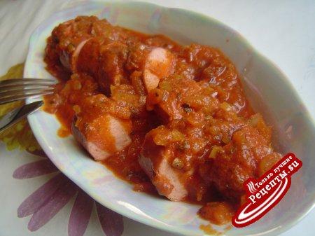 Currywurst-Жареные колбаски с соусом Карри